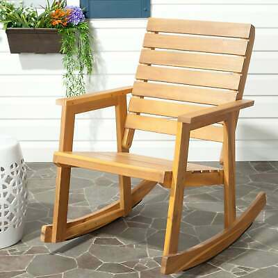 Groovy Safavieh Outdoor Alexei Rocking Chair Brown Single 158 09 Gmtry Best Dining Table And Chair Ideas Images Gmtryco
