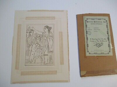 Vintage Pablo Picasso Etching Oath The Women Of Lysistrata With Old Coa Cubism