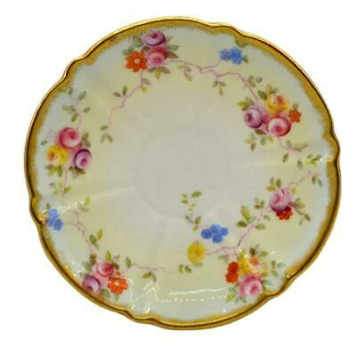 Antique Aynsley China Tea Cup & Saucer Hand Painted 9362 c1891-1910