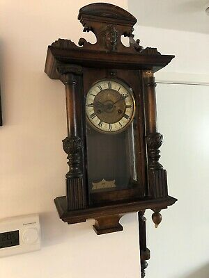 Small Antique Vienna Wall Clock  Workong