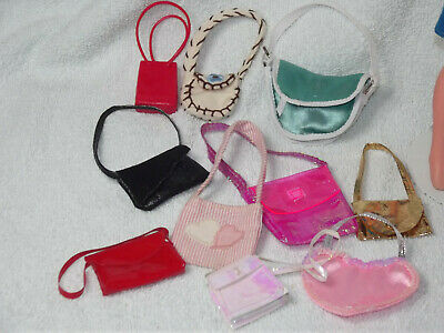 Lot Of Vintage Sindy Barbie Tressy Doll Size Handbags. NO DOLL