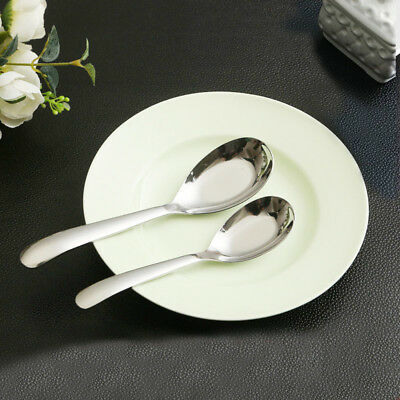 Stainless Steel Chinese Large Soup Kitchen Dining Ramen Spoons Flatware Tool