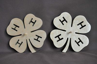 4H Clover Horse Cow Dog Show Ribbon Holder  Wall Display Wooden Scroll Saw Award