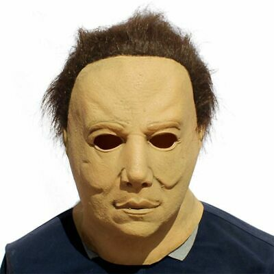 Halloween Michael Myers Horror Latex Mask Movie Cosplay Adult Prop Full Face New