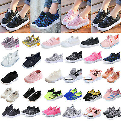 Kids Toddler Sports Sneaker Boys Girls School Running Trainers Breathable Shoes