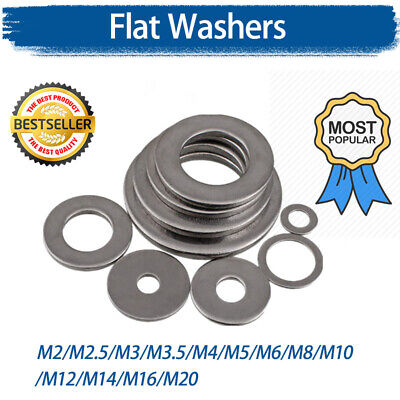 Flat Washers Stainless Steel M4,M5,M6,M8,M10,M12,M16,M20 Wide Large Flat Wider