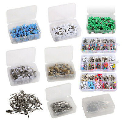 100PC Dental Polishing Brushes Cups Polisher Prophy Cup Brush Rubber Nylon Latch