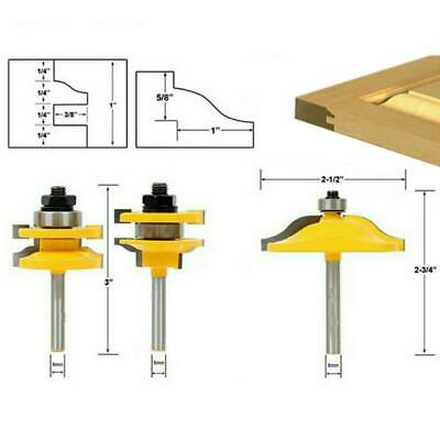 """8mm 1/2"""" Carbide Tipped Cabinet Door Panel Router Bit Woodwork Milling Cutter"""