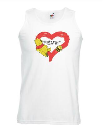 Unisex White You Don't Spell It Vest Feel It Winnie Bear Love Fan Art