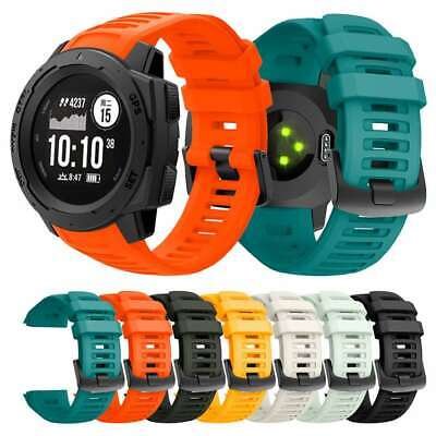Quick Release Silicone Replacement Strap Watch Band For Garmin Instinct