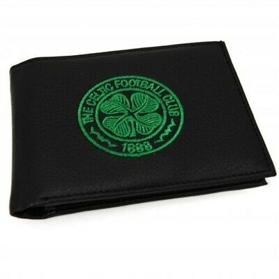 New Official Football Club Embroidered Leather Wallets (celtic Fc Crest) -