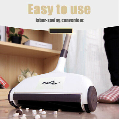 2 In 1 Bagless Cordless Carpet Sweeper Household Floor Sweep Cleaning Brush Mop