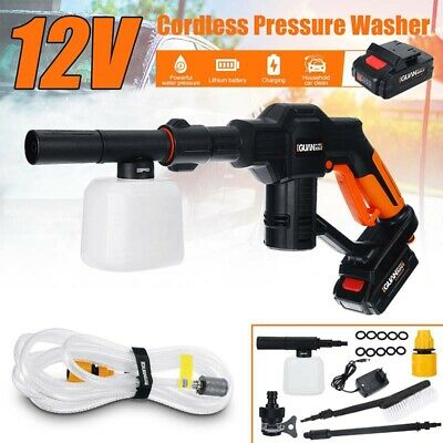 18V Cordless High Pressure Cleaner Car Washer Gun & Water Hose Outdoor Water