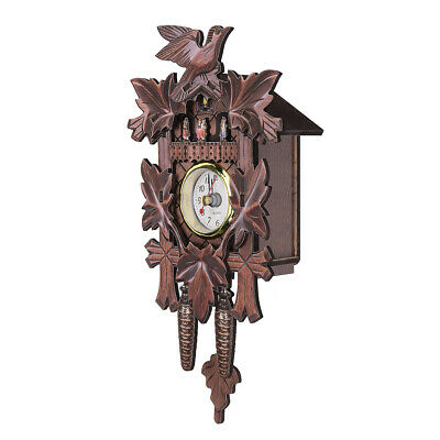Vintage Cuckoo Clock Forest Quartz Swing Wall Alarm Handmade Room