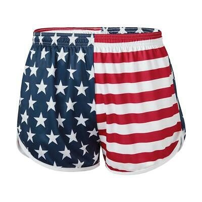 NEW Soffe Ranger Panty Silkies PT Shorts Military American Flag Red White & Blue