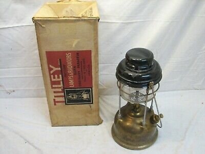 Vintage Brass Tilley 246 Camping Lantern Pressure Lamp with Box