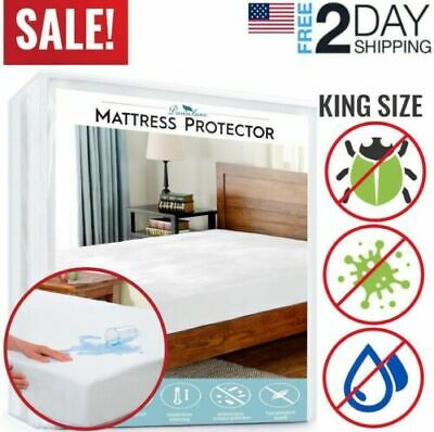 Mattress Cover Protector Waterproof Pad King Size Bed Cover Hypoallergenic Size