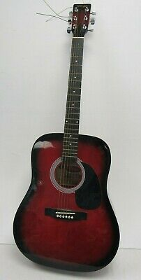 Stagg Handmade Western Dreadnought Acoustic Guitar - Red Burst FIS
