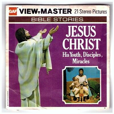 2 VIEW-MASTER 3D Reels📽️JESUS CHRIST (Christus),B 882 A,BIBLE STORIES *MEGARAR*