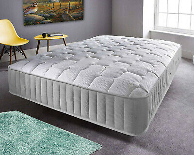Cool Blue Deep Quilt 4000 Pocket Luxury Quilted Sprung Mattress, Made In Uk