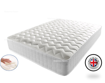 Memory Foam Mattress Quilted Sprung/Spring Single 3ft Double 4ft6 5ft Matresses