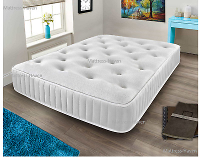 Cool Blue Memory Foam Mattress Spring 3ft Single 4ft6 Double 5ft King 6ft Super