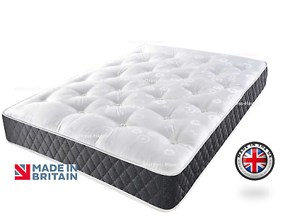 Grey Reflex Foam Orthopaedic Spring Sprung Mattress 3FT 4FT 4FT6 Double 5FT King