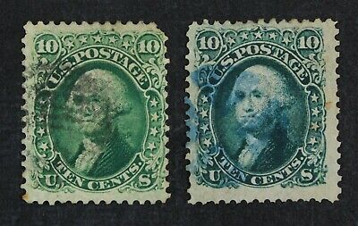 CKStamps: US Stamps Collection Scott#68 10c Washington Used 2 Shades