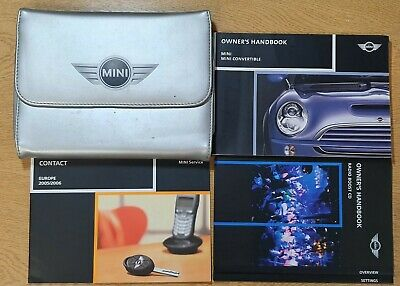 MINI CONVERTIBLE 2001-2008 HANDBOOK OWNERS MANUAL PACK L-943 GENUINE MINI