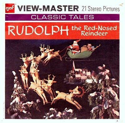 3 VIEW-MASTER 3D Reels📽️RUDOLPH the Red-Nosed REINDEER,B 870,CLASSIC TALES, RAR