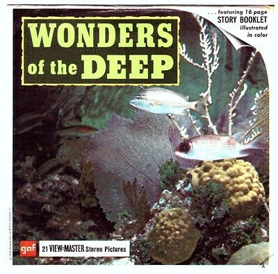 3 VIEW-MASTER 3D Reels📽️WONDERS OF THE DEEP - B 612 World of Science, lehrreich
