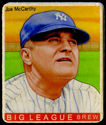 R319-Helmar Big League #418 Joe McCARTHY New York Yankees