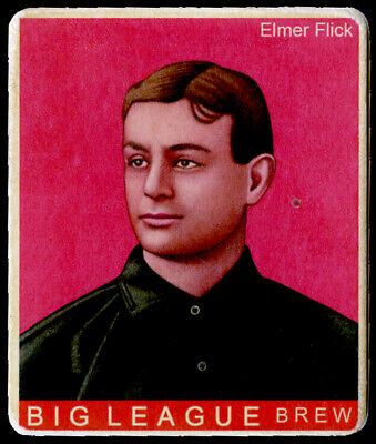 R319-Helmar Big League #339 Elmer Flick Cleveland Indians HOF