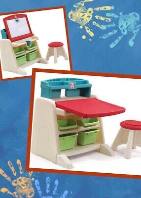 Excellent Exc Step2 Flip Doodle Easel Desk W Stool Kids Table Art Caraccident5 Cool Chair Designs And Ideas Caraccident5Info