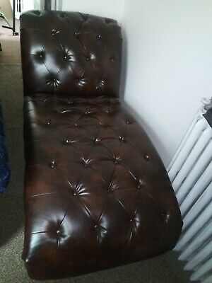Leather Chair Brown With Big Pillow It's Brand New Didn't Fit Up My Steps