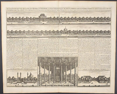 Chatelain - Persia; View Palace of Isfahan. 86d -1718 Atlas Historique Engraving
