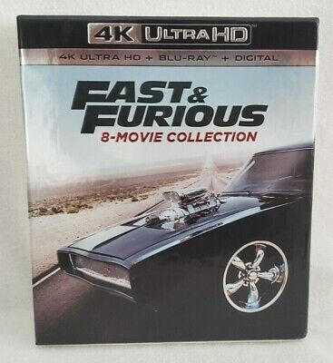 Fast & Furious: 8-Movie Collection 4K Ultra HD+BluRay BRAND NEW NO DIGITAL CODES