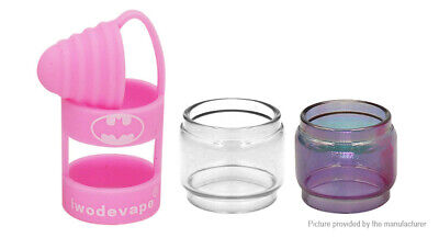 Iwodevape 3-in-1 Replacement Glass Tank + Silicone Sleeve for SMOK TFV8 Pink