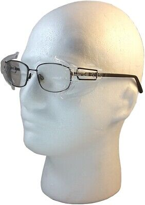 B52 Clear OSHA Approved Safety Side Shields for Large Frame Glasses