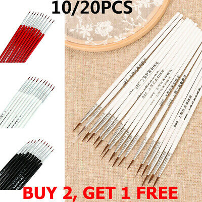 20Pcs Fine Hand Painted Thin Hook Line Pen Drawing Painting Brush Art Supplies