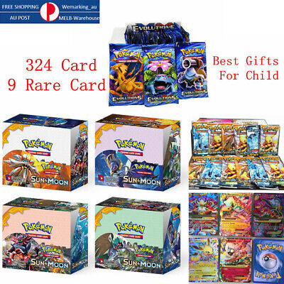324pcs 36 Packs Pokemon Bulk Lot+9 Rare Card TCG Booster Box  Cards Holos!  AU
