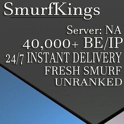 League of legends account level +30 SMURF NA 40000 BE/IP 40K Unranked LoL Smurf