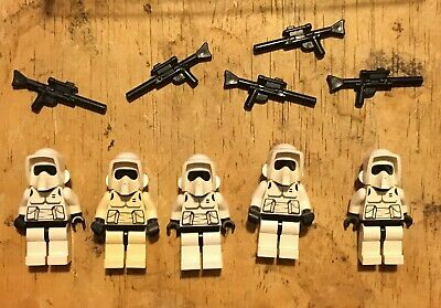 LEGO LOT OF 5 STAR WARS MINIFIGS Scout Troopers Endor MINIFIGURES w weapons