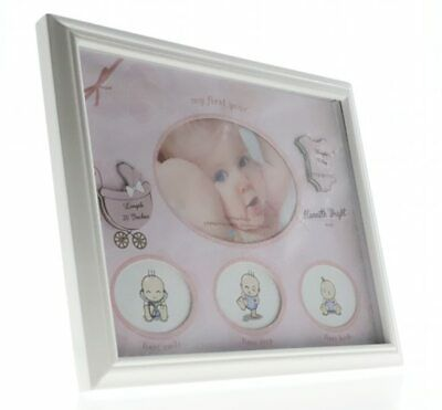Baby girl my first year collage photo frame