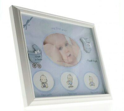 Baby boys my first year collage photo frame