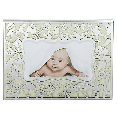 Baby photo frame with fillifrie design holds 4x6 inch picture