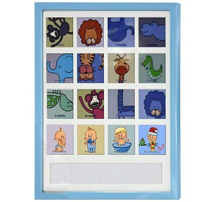 Blue babys first year collage frame