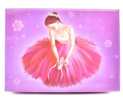 Jewellery box with a spinning ballerina girl musical