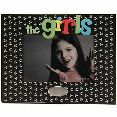 Wooden 'the girls' photo frame with engravable space, holds 4x6 inch picture