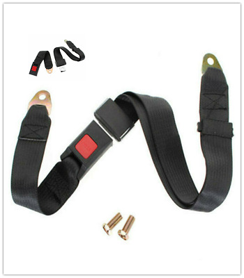 Universal Car Truck Seat Belt Lap Belts 1.2m Adjustable Two 2 Point Security NEW
